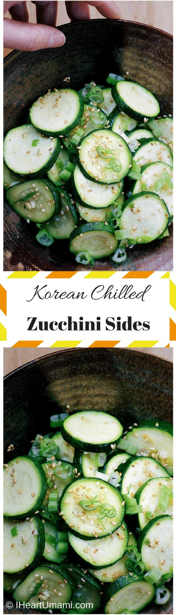 Korean Chilled Zucchini Sides. A delicious zucchini side dish to help you eat more veggies. Paleo,Keto, Whole30, Vegetarian friendly