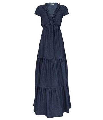 Αποτέλεσμα εικόνων για vestido jeans longo