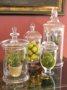 Fill apothecary jars with some Spring-ish things.