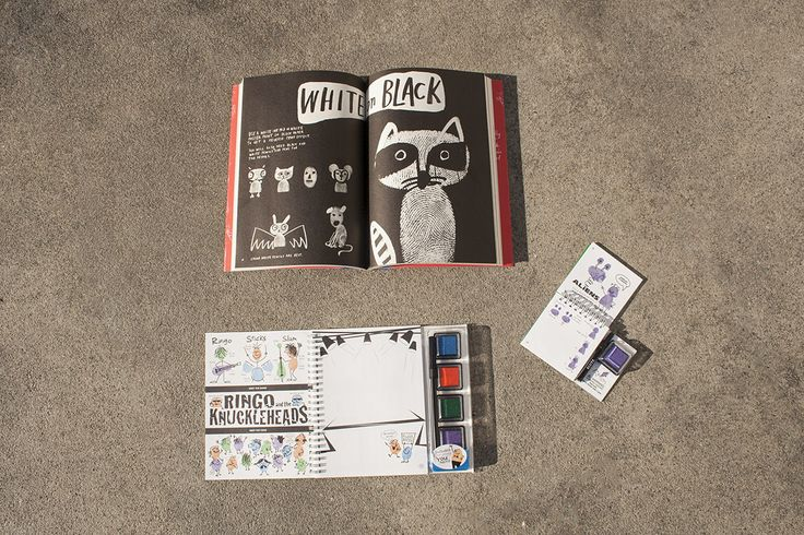 Take art making into your own hands with these fun fingerprint books & kits!