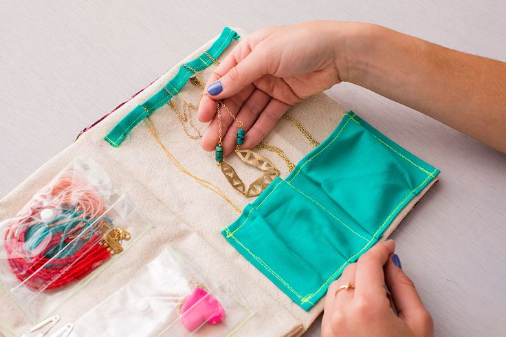Style On-the-Go: How to Make a DIY Travel Jewelry Organizer via Brit + Co.