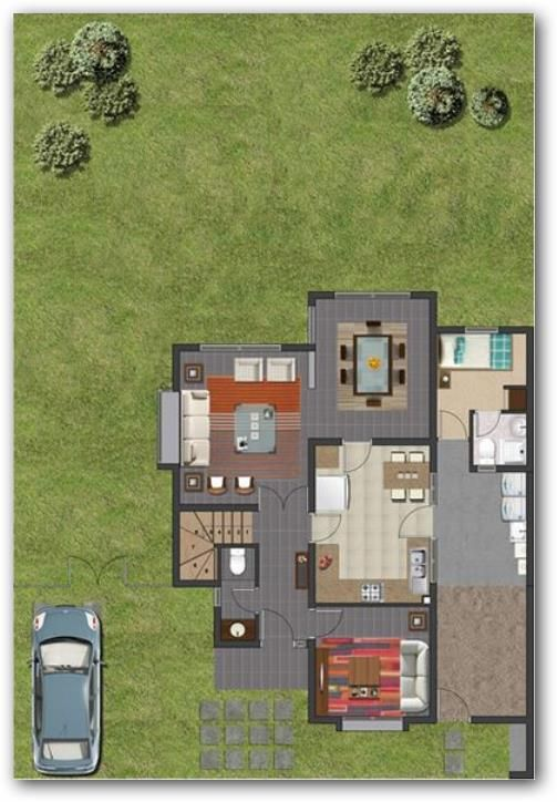 Las 25 mejores ideas sobre planos de planta en pinterest for Casa moderna 140 m2