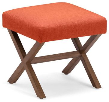 Corinthian Stool Sunkist - Transitional - Ottomans And Cubes - Zuo Modern Contemporary