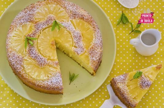 Torta ananas e cocco con ricotta al posto del burro