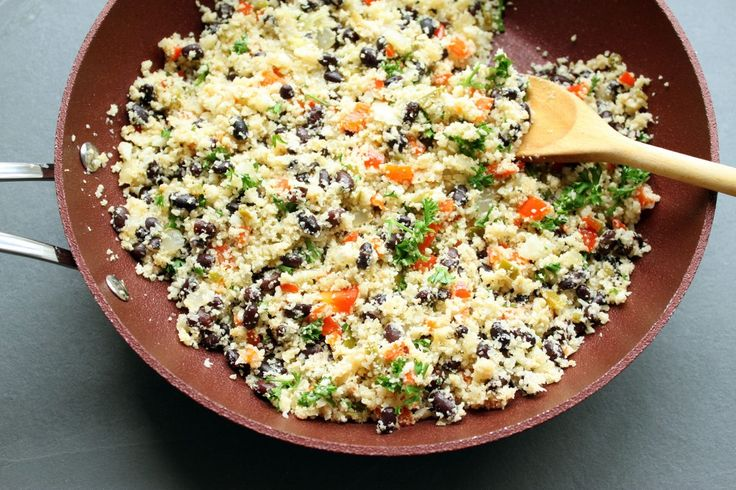 Black Beans and Cauliflower Rice - Ready to plate