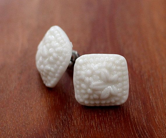 FTC-P-0101 HIP to be SQUARE porcelain earrings