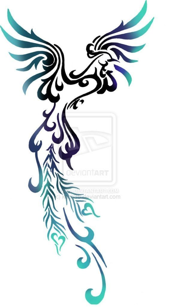 Most feminine Phoenix tattoo design I've seen - looks really nice =) by patrica