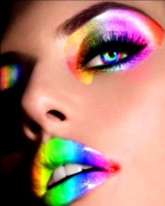 #Rainbow colors ToniK ❖de l'arc-en-ciel❖❶ #Neon #makeup
