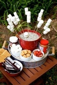 smore's bar for a backyard party