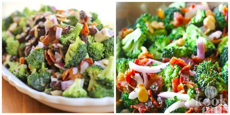 Heerlijk fris en smaakvol: broccoli salade! Soms heb je geen zin om uren achter dat warme fornuis te staan, zeker niet als het wat warmer wordt buiten. Als de temperaturen oplopen krijg je automatisch meer zin in fris, licht verteerbaar voedsel waar je niet al te veel moeite voor hoeft te doen. Dez