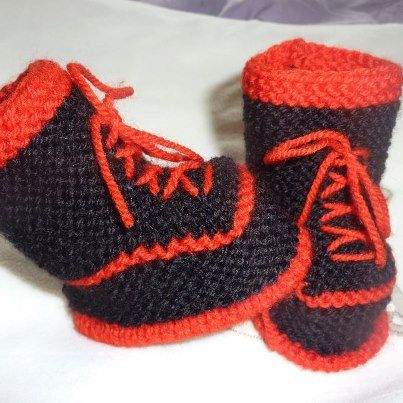 Check out this item in my Etsy shop https://www.etsy.com/listing/222974004/baby-booties-hand-knitted-baby-booties