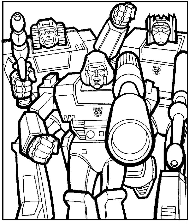 megatron with friends coloring pages for kids printable transformers coloring pages for kids