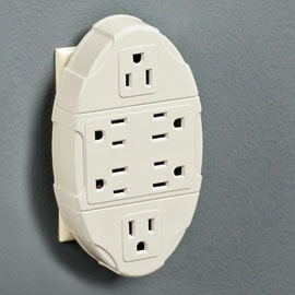 6-Outlet Wall Plug, Outlet Multiplier with Room for Boxy Plugs | Solutions