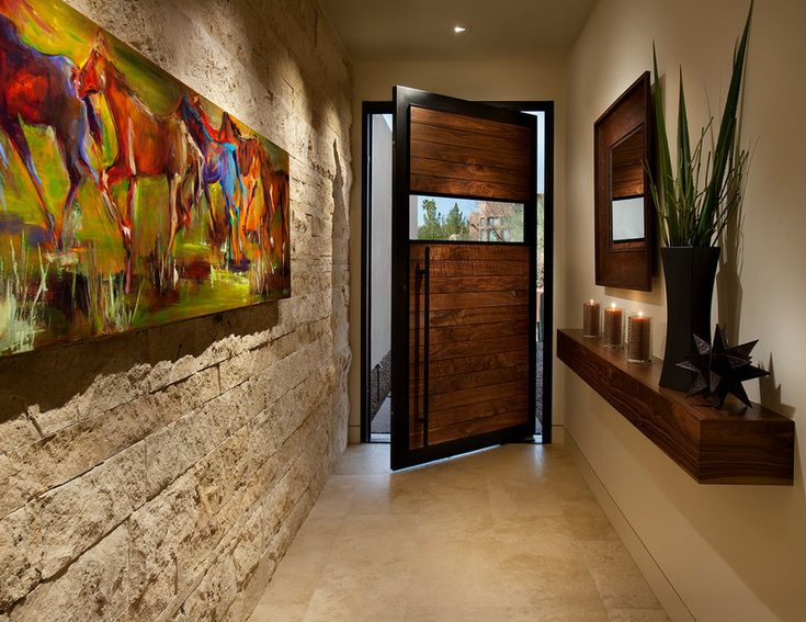 Love this contemporary entry  by Link Architecture, PC - a lot of punch for such a small  space!