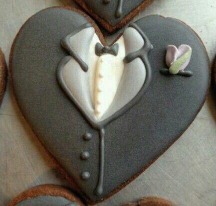 Wedding Tuxedo (Heart Cookie Cutter)