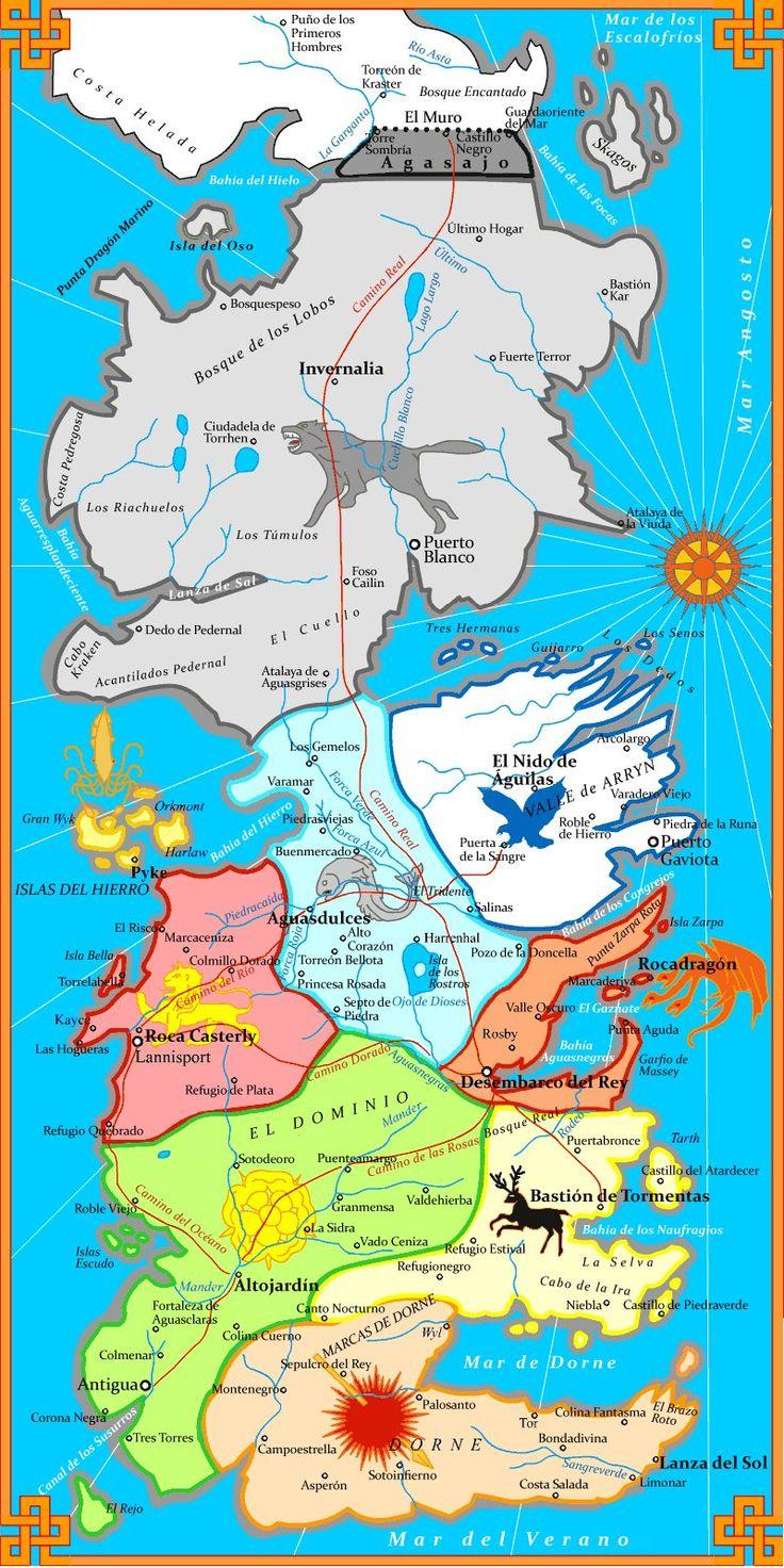 Mapa de Juego Tronos
