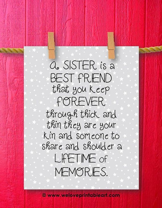 Best Friend Sister Gift Sisters Wall Art Wyjtkowe Prezenty For Frie Tkowe