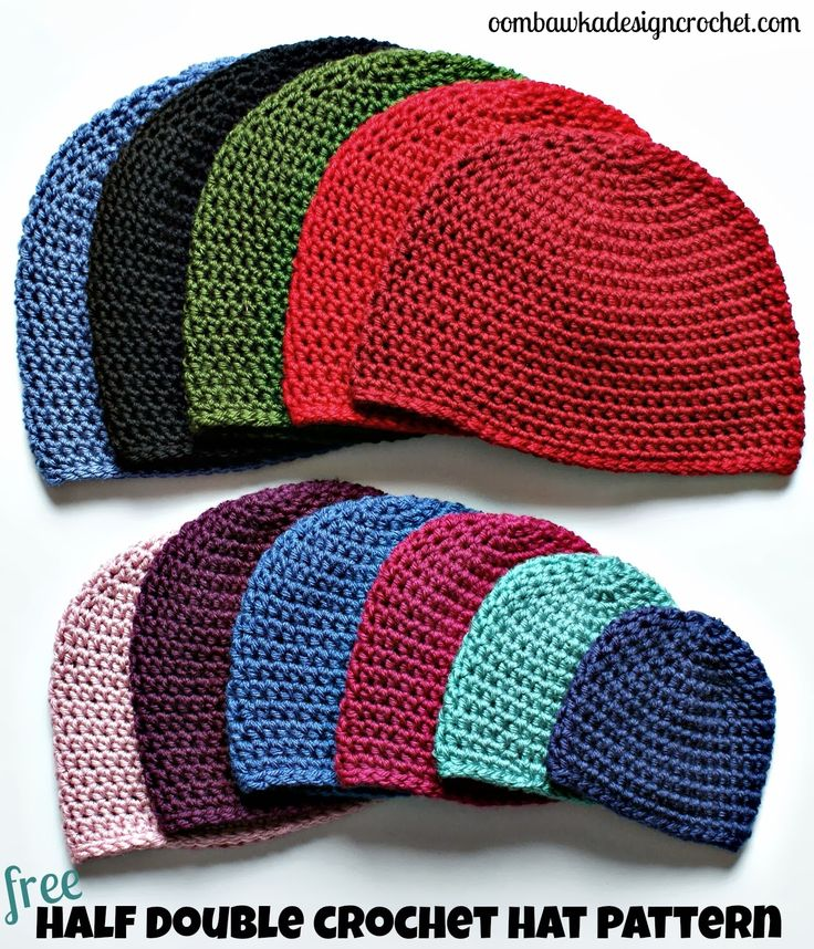 Half Double Crochet Hat Pattern.  fc9cc438b91