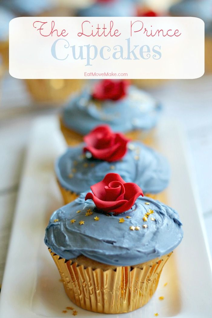 The Little Prince Cupcakes - great snack idea for a family movie party or birthday!
