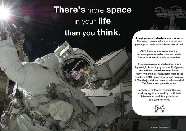 There is more space in your life than you think -  Poster from the book 'Not Invented Here: cross-industry innovation'