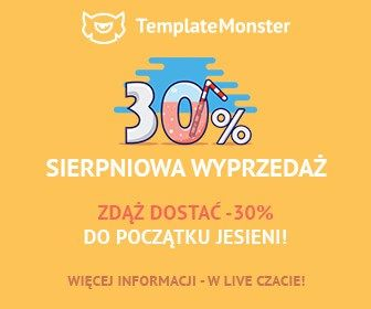 Ostatnie dni sierpnia -30% w sklepie TemplateMonster // #WordPress