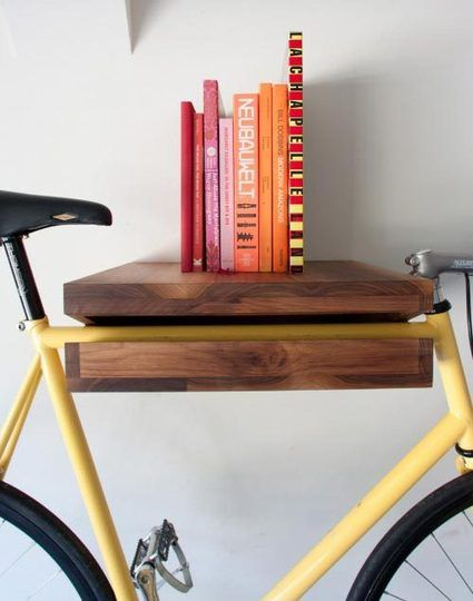 Bike Shelf by Chris Brigham Knife & Saw. Wish I would've seen this before I gave away my bike!
