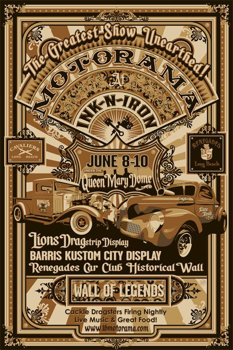 Queen Mary Ink n Iron Show June 8-10th.  Sailor Jerry Tattoo Punch is calling my name.