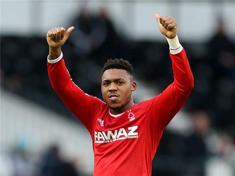 Britt Assombalonga post-Derby County v Nottingham Forest