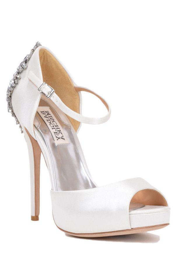 Elegant Kindra Embellished Badgley Mischka Bridal Shoe Wedding shoes for bride weddingshoes bridalshoes