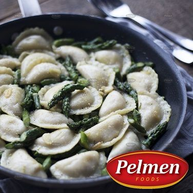 Lemony Asparagus Perogies. Recipe: http://pelmen.com/recipe?id=144#.WRX8PuErKUk