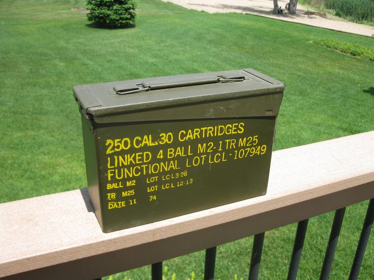 Metal  Ammunition Box- 250 .30 CAL Cartidges - Shell Box- Military Box- Ammo Box -US military box- Storage- Army-  Man Cave- Great condition by oakiesclaptrap on Etsy