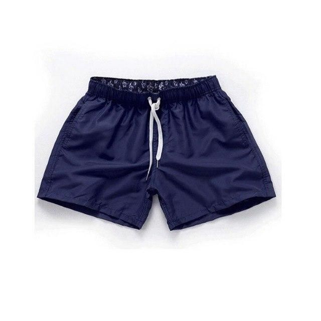 Visnxgi Men Summer Casual Shorts Men Fit Solid 16 Color Available Shorts Loose Elastic Waist Breathable Beach Shorts Q196 Dark b