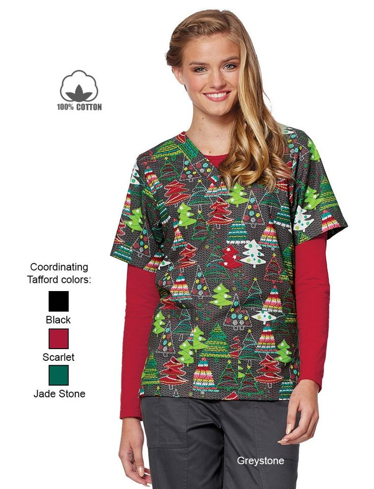 Tafford Plus Size V-Neck Scrub Top $ 22 Tafford Uniforms. Tafford Prints Pretty Present 2-Pocket Scrub Top. from $ 18 5 out of 5 stars 1. Tafford Uniforms. Tafford Prints Berry Bunch 2 Pocket Print Scrub Top. from $ 18 Tafford Uniforms. Lydia's Select 2 Pocket Y-Neck Scrub Top.