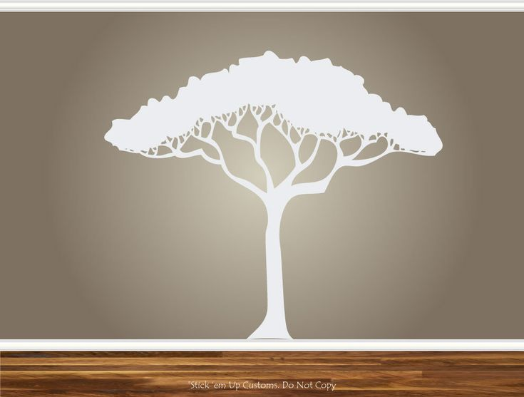 African Safari Tree Wall Decal Nursery Baby Kids Living Room Home Decor Art Sticker Removable Branches. via Etsy.