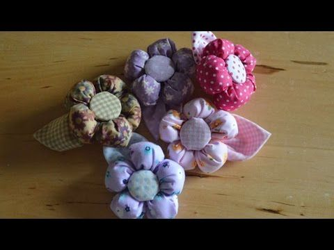 DIY - Tutorial per fare fiori di stoffa di varie forme - YouTube