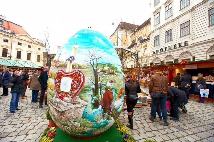 Настоящие пасхальные базары в Вене