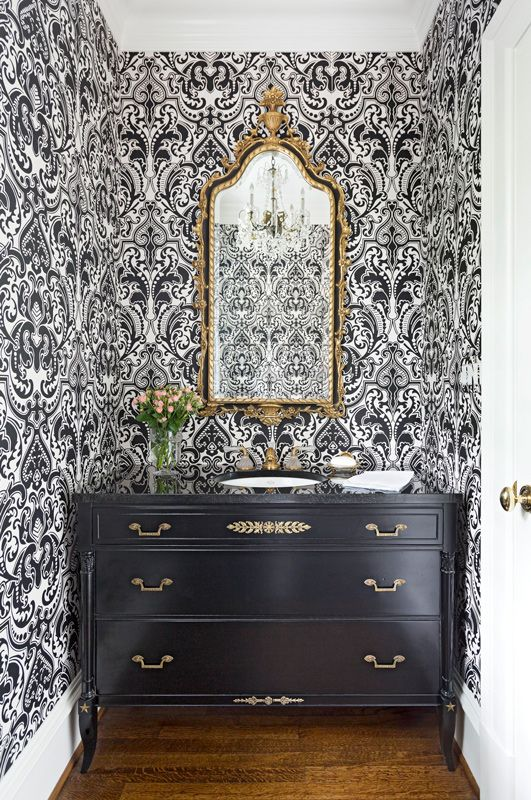 Storage Inspiration for Small Spaces | Traditional Home - furniture repurposed as vanity