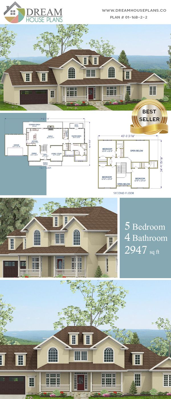 Dream House Plans Best Southern Living Family 5 Bedroom 2947 Sq Ft House Plan With Basement Sh Dream House Plans Southern House Plans Simple House Plans