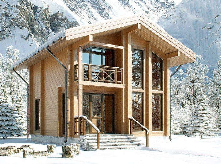 Дом деревянный из клеёного бруса, сорт А, проект «Тиль»