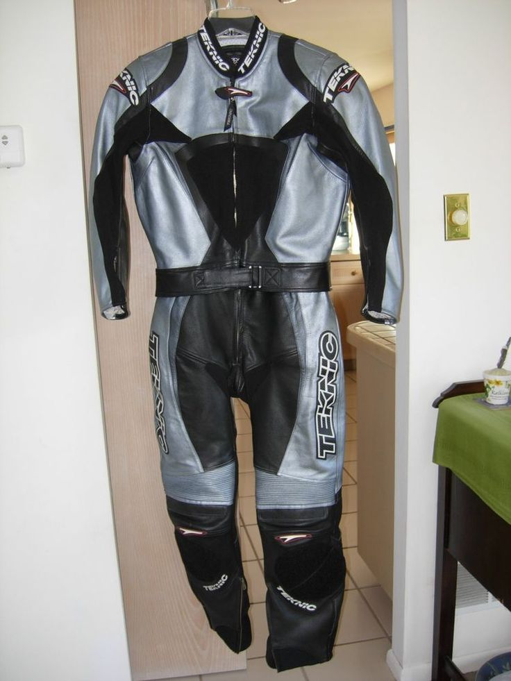 Two Piece Teknic Motorcycle Leather Suit #Teknic