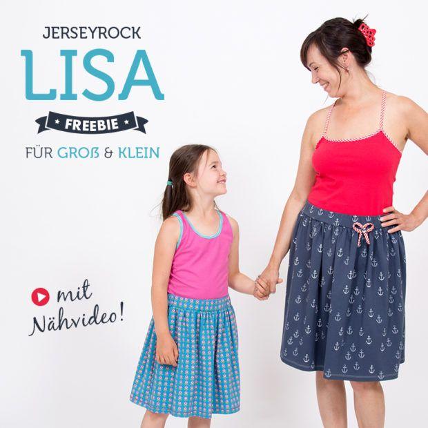 DIY Tutorial Video - Einen Jerseyrock selber nähen - mit Freebook für große und kleine Mädchen