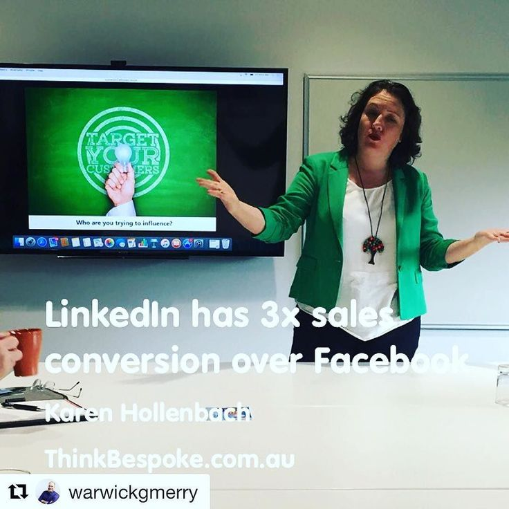Thanks to @warwickgmerry for catching this photo of me in action! It was great to have someone there who publishes and be such a good sport letting me use his profile as an example.  #B2B #conversion #linkedin #smashesit #Repost @warwickgmerry with @repostapp  LinkedIn skills training with Karen from ThinkBespoke.com.au