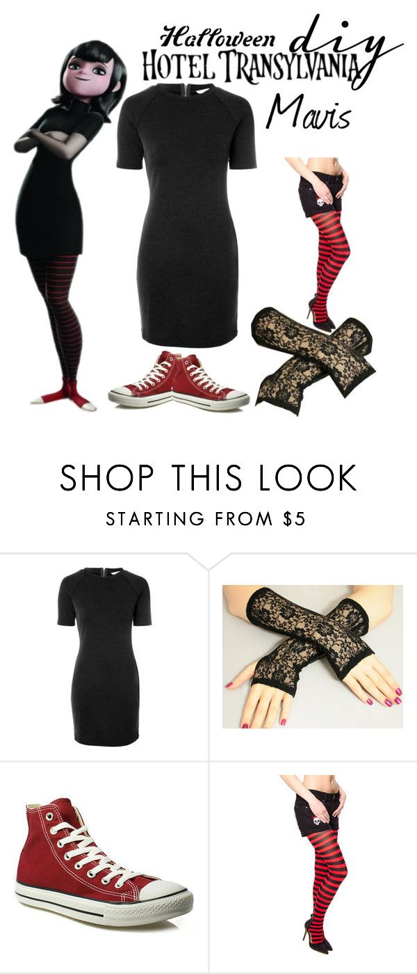 """Mavis diy costume"" by starspy ❤ liked on Polyvore featuring moda, Glamorous, Converse, Halloween, vampire, Mavis, halloweencostume i diycostume"