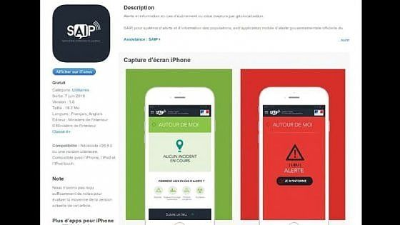 L'app Saip - gratuita e sviluppata dal ministero degli Interni francese - era stata annunciata solennemente alla vigilia degli Europei di calcio. Ma quando