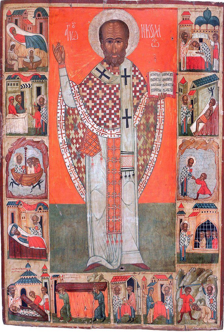 Св. Миколай з житієм, др. пол. ХV ст., Горлиця