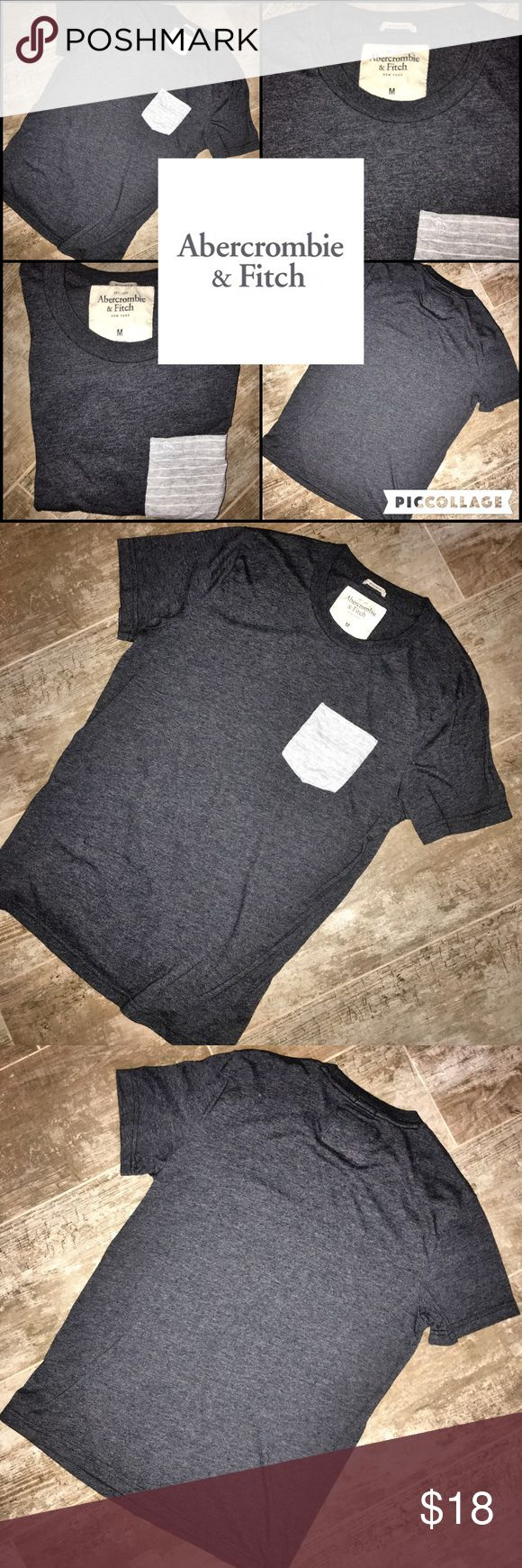 Abercrombie Men's Contrast Pocket Tee Size M Abercrombie Men's Contrast Pocket Tee Size M - *LIKE NEW* - Worn Once On Recording Set! Abercrombie & Fitch Shirts Tees - Short Sleeve