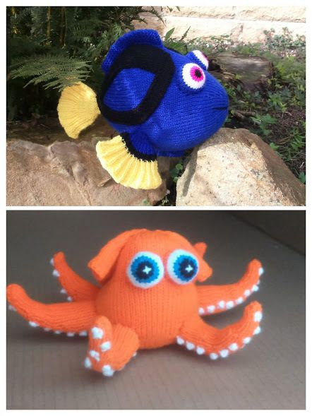 DORY FISH and HANK THE OCTOPUS KNITTING PATTERNS