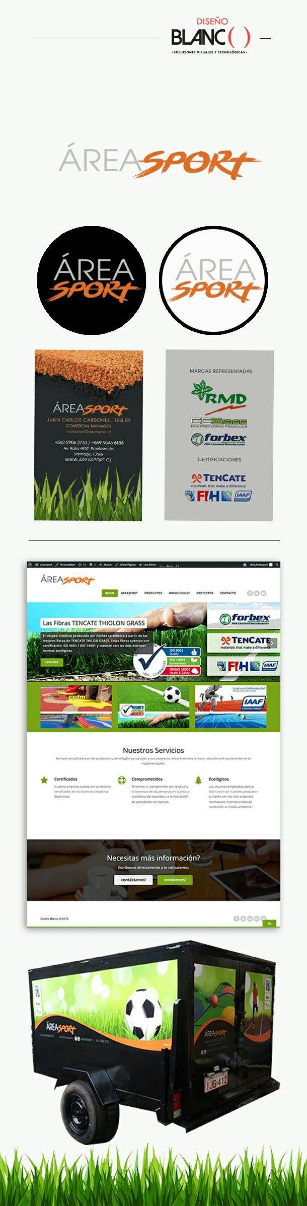 Imagen Corporativa y Web para AreaSport por Diseño Blanco