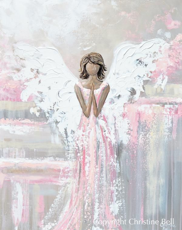 Angel Painting Print Mother Child Guardian Angel Spiritual Wall Art Contemporary Art By Christine Giclee Print Abstract Abstract Art Painting Angel Painting