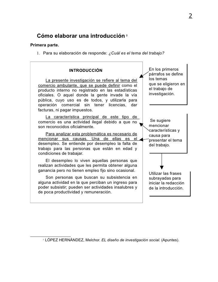2   Cómo elaborar una introducción 2Primera parte.   1. Para su elaboración de responde: ¿Cuál es el tema del trabajo?    ...